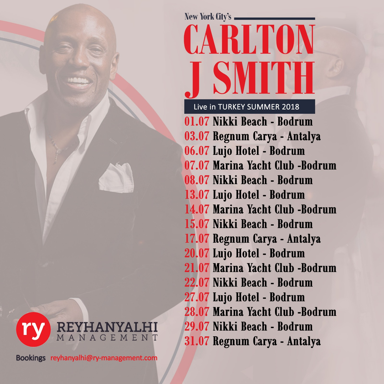 Carlton J Smith July Calendar_Summer 2018